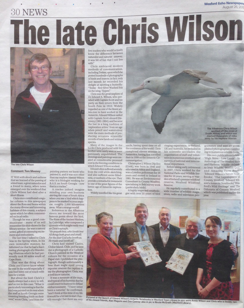 Christopher Wilson Wexford Echo