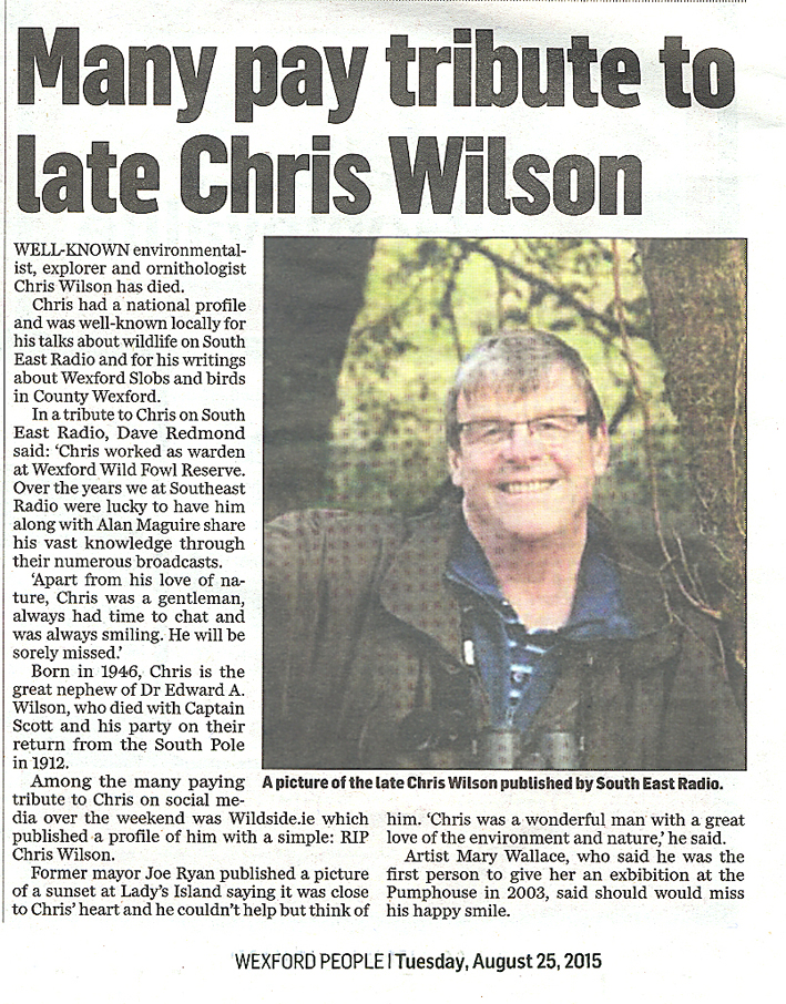 Chris Wilson Wexford People