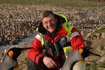Chris Wilson in the Antarctic